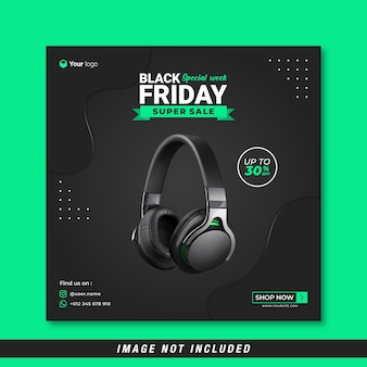 Black friday special week social media banner template