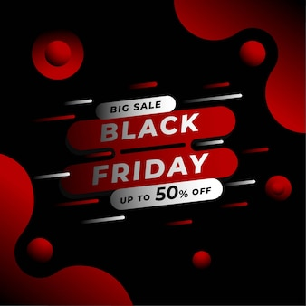 Black friday square banner template for instagram