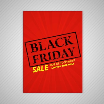 Black friday stamp template vector design