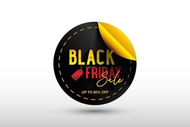 Black friday sticker banner template