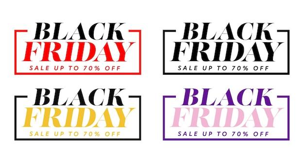 Наклейка «черная пятница» увеличила продажи рекламы до 70%. мега оптовая и супер дешевая цена продвижение надписи дизайн векторные иллюстрации, изолированные на белом фоне