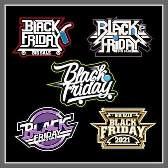Black friday stickers set
