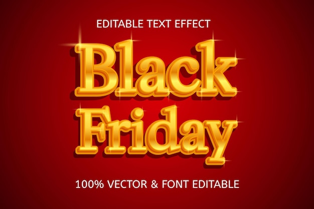 Black friday style luxury editable text effect