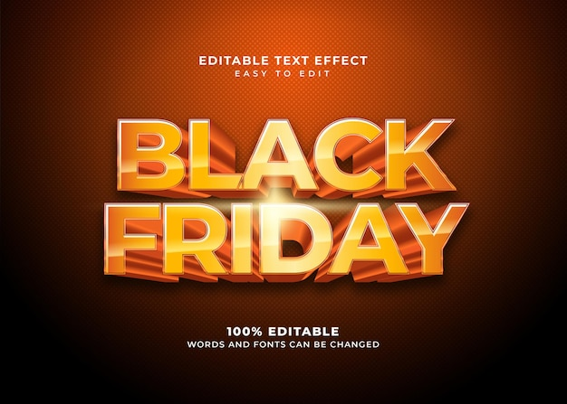 Black friday style text effect