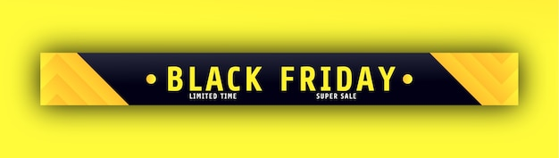 Black friday stylish banner or header