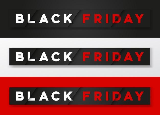 Черная пятница стильный премиальный набор баннеров