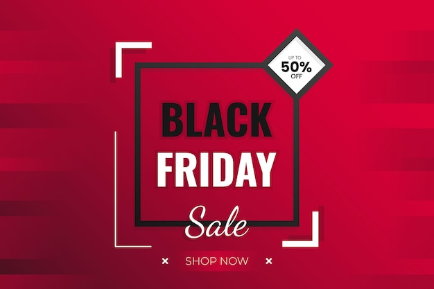 Black friday super sale background with abstrack shape and dark red gradient vector design modern style