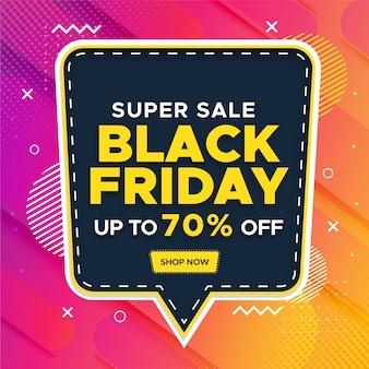 Black friday super sale banner