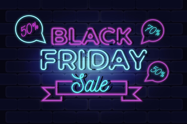 Black friday super sale neon colours