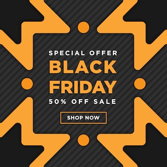 Black friday super sale square banner template design