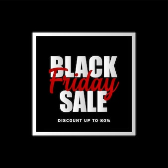 Black friday super sale template for business and promotion.