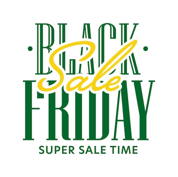 Черная пятница супер распродажа время продвижения текст стикер дизайн. сезонная ноябрьская распродажа, осенняя скидка и распродажа на выходные, векторная иллюстрация, изолированная на белом