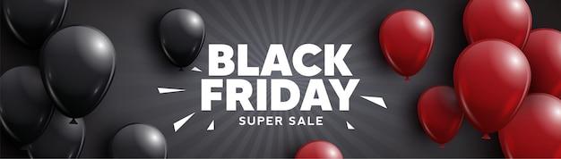Black friday, super sale. vector banner