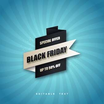 Black friday super sale with black and white design.