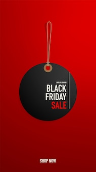 Black friday tag or banner or tag template for web.