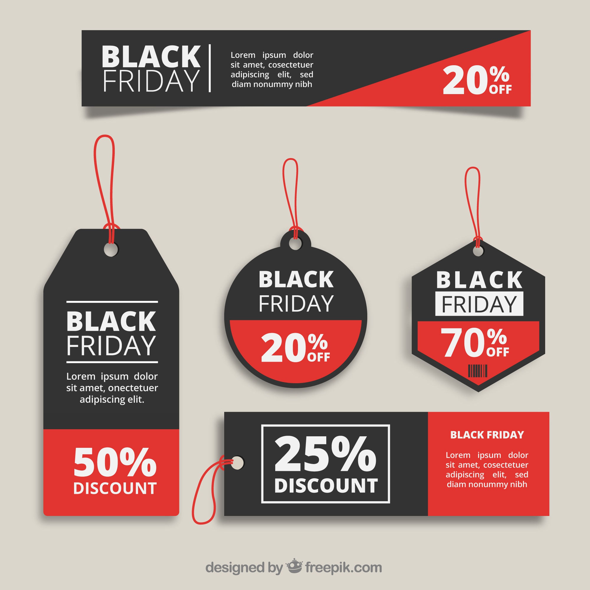 Black friday tags collection