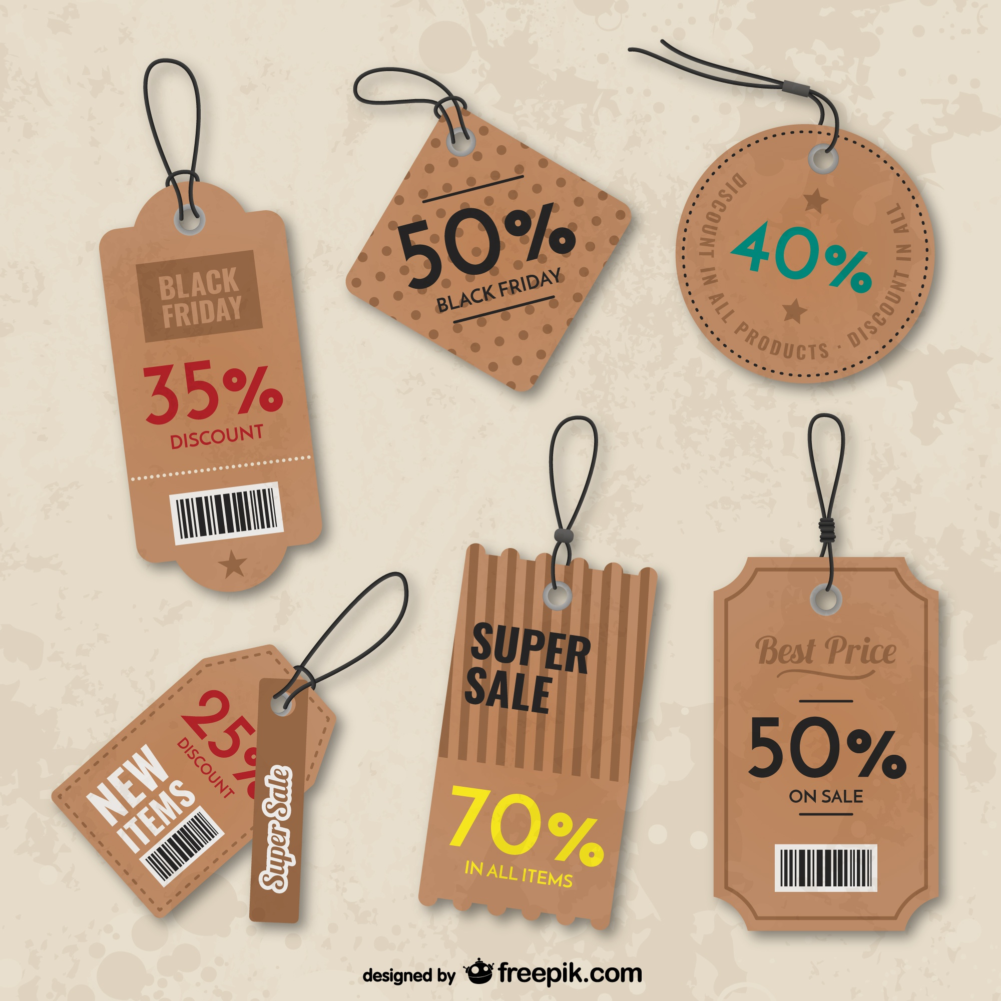 Black Friday tags pack