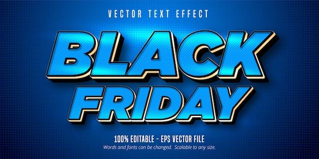 Black friday text, editable text effect