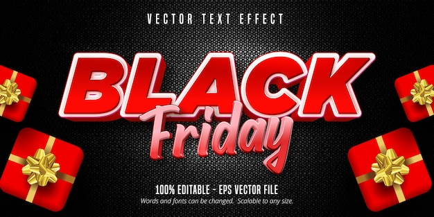 Black friday text, editable text effect