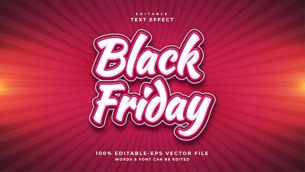 Black friday text editable text effect Premium Vector