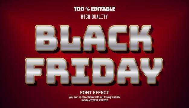 검은 금요일 텍스트 효과, 편집 가능한 글꼴
