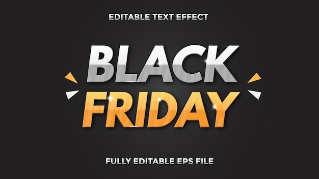 Black friday text effect editable
