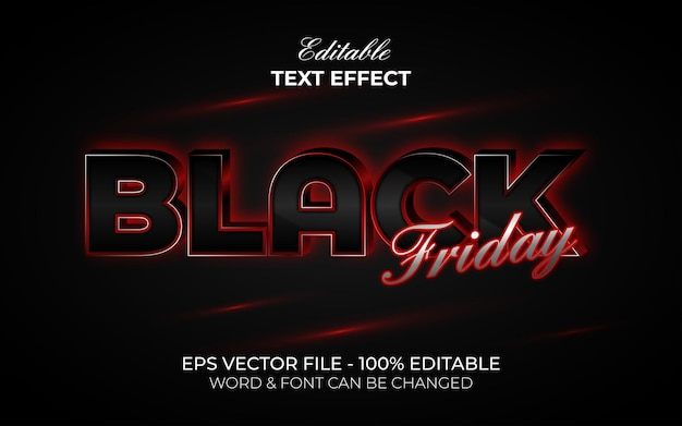 Black friday text effect style editable text effect