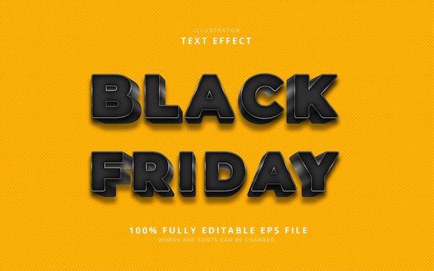 Black friday text effect