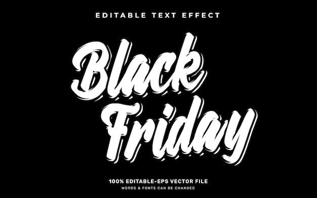Черная пятница текстовый эффект Premium векторы