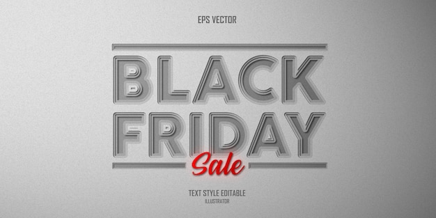 Black friday text style effect