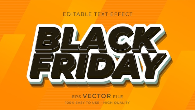 Black friday typography   editable text effect