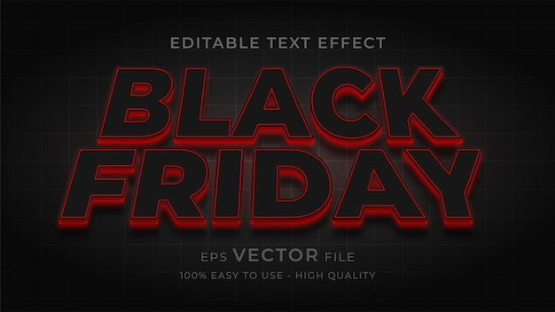 Black friday typography editable text