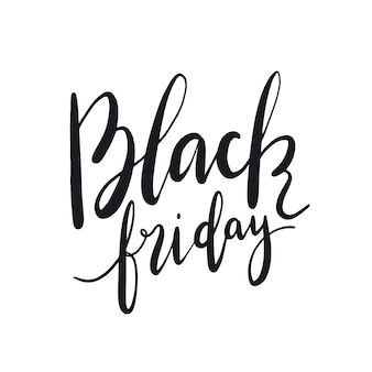 Black Friday typography style vector