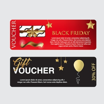 Black friday voucher card template