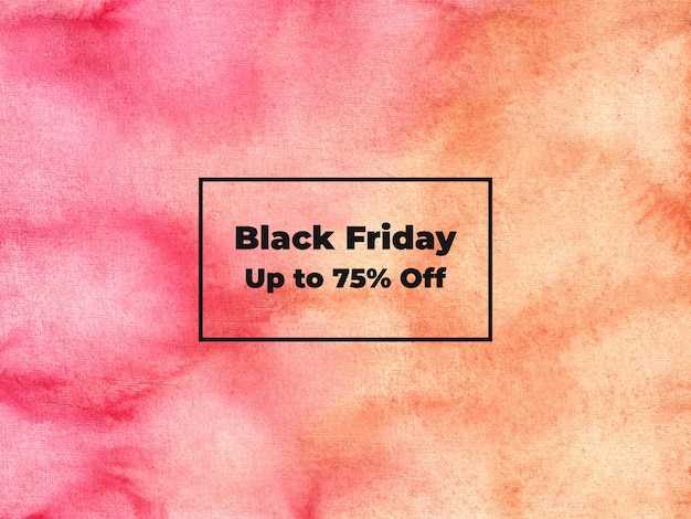 Black friday watercolor background