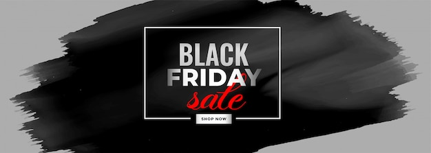Black friday watercolor sale banner