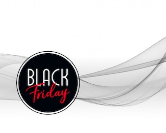 Black friday wavy background design
