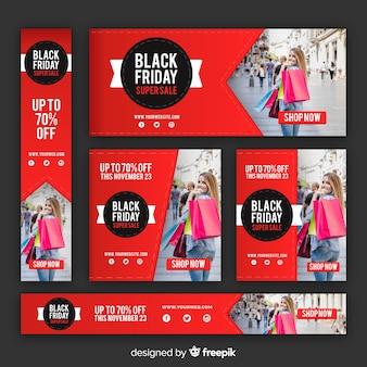 Black friday website banner template
