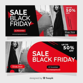 Black friday website banner template