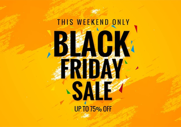 Black friday weekend sale poster