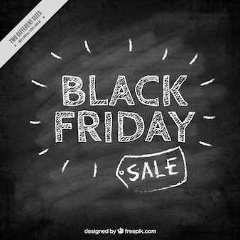 Black friday with blackboard background