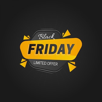 Black friday  with flat design