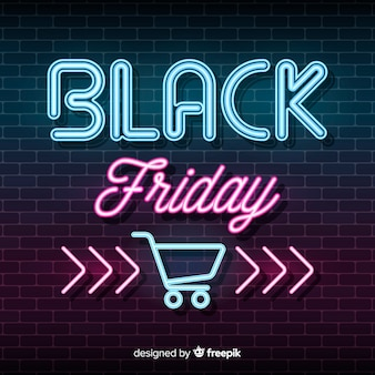 Black friday with gradient background
