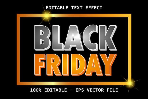 Черная пятница с редактируемым текстовым эффектом в роскошном стиле
