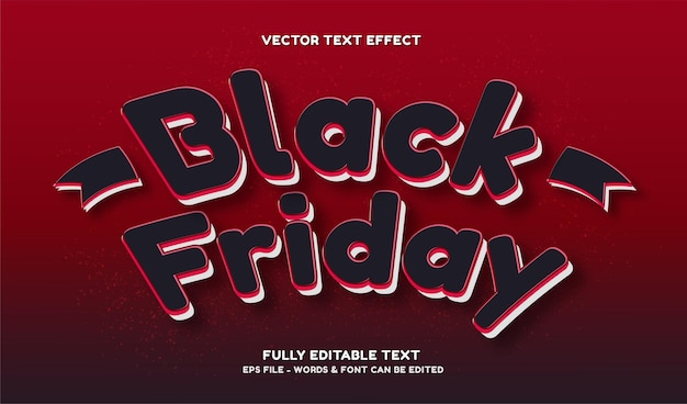 Black friday with modern style editable text effect