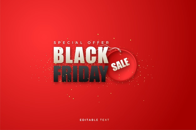 Black friday   with white and black writing on a red  .