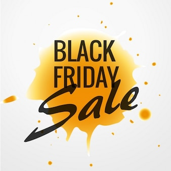 Black friday with yellow paint