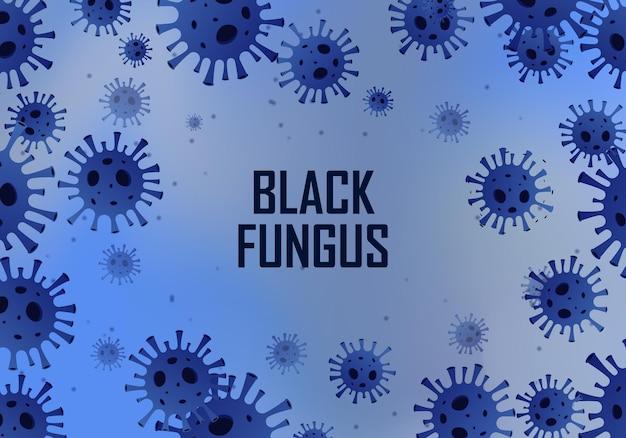 Черный гриб covid 19 фон векторные иллюстрации
