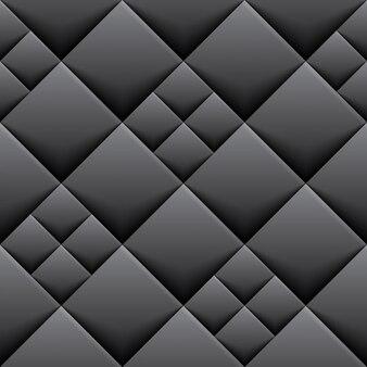 黒い幾何学的背景とタイル
