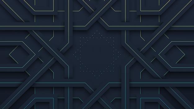 Black geometric pattern background